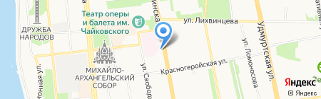 Спартак на карте Ижевска