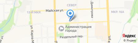 Серебряные ключи на карте Ижевска