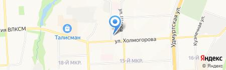 ПоДомам на карте Ижевска