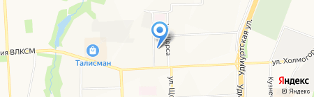 Автостолица на карте Ижевска