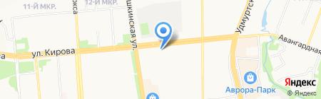Надежда на карте Ижевска