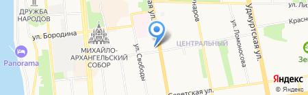 Спасение на карте Ижевска