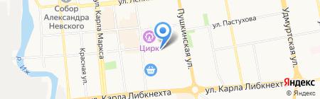 Колесо на карте Ижевска