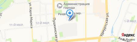 Полярная звезда на карте Ижевска
