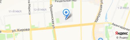 Банкомат Банк Рост на карте Ижевска