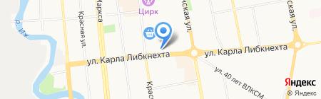 Ценопад на карте Ижевска