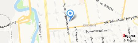 Авангард на карте Ижевска
