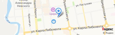 La Personne на карте Ижевска