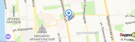 Лингва Сити на карте Ижевска