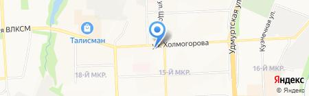 Алсу на карте Ижевска