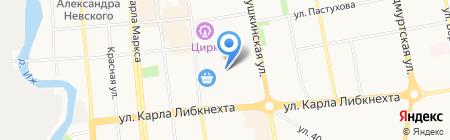 Дом мебели на карте Ижевска
