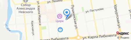 Берлога на карте Ижевска