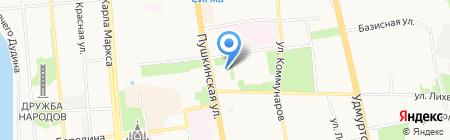 Министерство финансов Удмуртской Республики на карте Ижевска