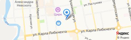 Адмирал на карте Ижевска