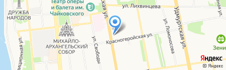 Ижевский естественно-гуманитарный лицей №30 на карте Ижевска