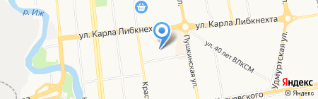 Почтовое отделение №77 на карте Ижевска