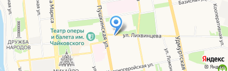 City Girl на карте Ижевска