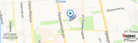 Молодежное на карте Ижевска