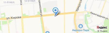 Нотариус Баландина Н.П. на карте Ижевска