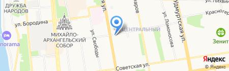 Республиканская библиотека для детей и юношества на карте Ижевска