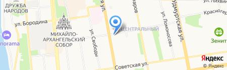 Голдбим Интур на карте Ижевска