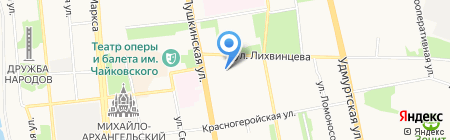 Мьюзик Сити на карте Ижевска