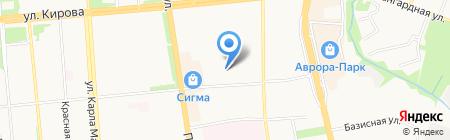 Централизованная бухгалтерия учреждений образования Октябрьского района г. Ижевска на карте Ижевска