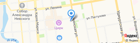 Средняя общеобразовательная школа №68 на карте Ижевска