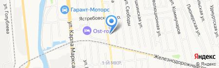 Ника на карте Ижевска
