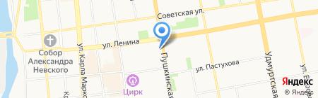 Азбука отдыха на карте Ижевска