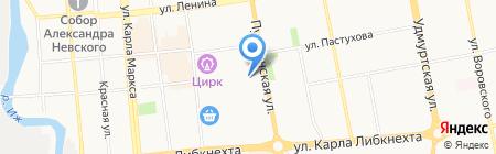 Крылья на карте Ижевска
