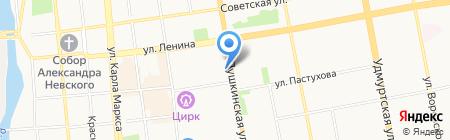 Эллипс банк на карте Ижевска