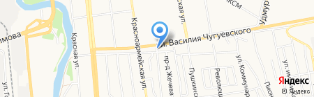 На Чугуевского на карте Ижевска