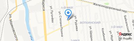 Перекресток на карте Ижевска