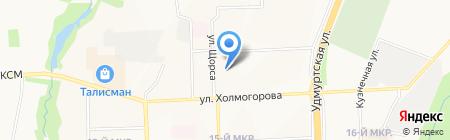 Орфей на карте Ижевска