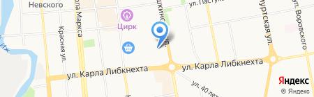 Центр занятости населения Первомайского района на карте Ижевска