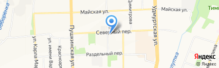 Онежский дворик на карте Ижевска