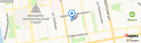 Аллегро на карте Ижевска