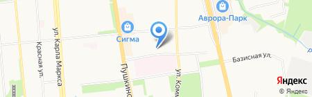 Удмуртская государственная национальная гимназия им. Кузебая Герда на карте Ижевска