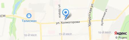 Хомячок на карте Ижевска