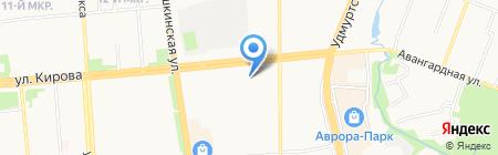 Эском на карте Ижевска