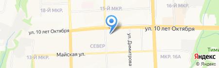 Детский сад №100 на карте Ижевска