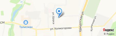 Амели на карте Ижевска