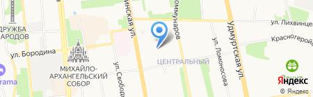 ИГМА на карте Ижевска