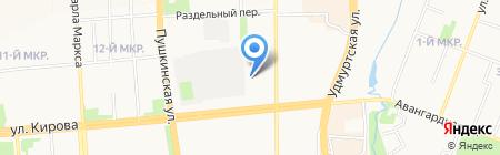 Карбон на карте Ижевска