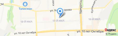 Гимназия №83 на карте Ижевска