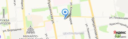 РяБа-дизайн на карте Ижевска