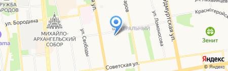 Российский профсоюз работников потребительской кооперации и предпринимательства на карте Ижевска