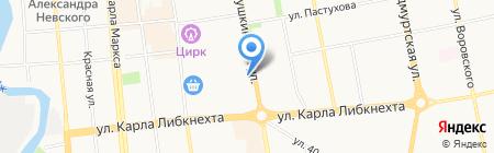 Арго на карте Ижевска