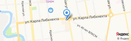 Тритон на карте Ижевска